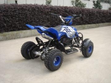 Mini ATV Easy Pullstart Quad Pocketquad Kinderquad Kinderfahrzeug Repti (Blau) -