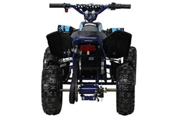 Kinder Elektro Miniquad Fox XTR 1000 Watt Schwarzer Body (Schwarz/Blau) -