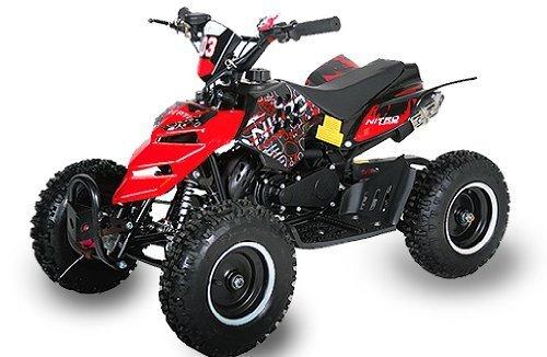 Mini ATV Quad Repti 6 Zoll Reifen Miniquad Kinderquad Cross Pocketquad Rot - 1