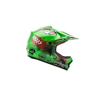 ARROW HELMETS AKC-49 Green Moto-Cross-Helm Cross-Helm Kinder-Cross-Helm Helmet Sport Junior Kids Quad Pocket-Bike Enduro MX Motorrad-Helm Cross-Bike Kinder-Helm, DOT zertifiziert, inkl. Stofftragetasche, Grün, M (55-56cm) - 3