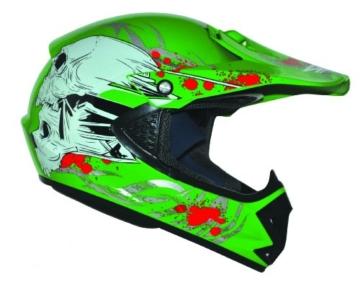 ATO Kids Pro Kinder Crosshelm Grün Größe: S 55-56cm Kinderhelm Kinder Cross BMX MX Enduro Helm - 2