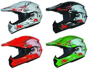 ATO Kids Pro Kinder Crosshelm Grün Größe: S 55-56cm Kinderhelm Kinder Cross BMX MX Enduro Helm - 4