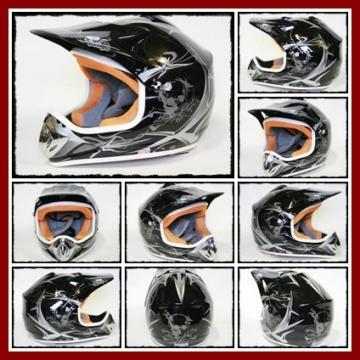 Helm Kinderhelm Motorradhelm Crosshelm Motocrosshelm Sport Schwarz M - 2