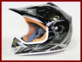 Helm Kinderhelm Motorradhelm Crosshelm Motocrosshelm Sport Schwarz S - 1