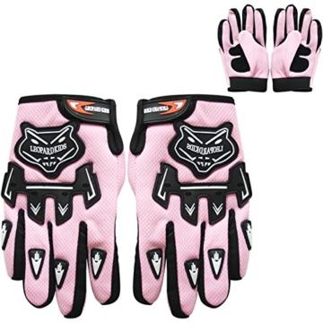 Leopard Junior Kind Kinder MX Motocross Handschuhe Kinder Dirty Bike Quad Motorrad Motorrad Handschuhe Rosa M - 2