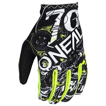 O'Neal Matrix Kinder Handschuhe Attack Neon Gelb Hi-Viz MX MTB DH Motocross Enduro Offroad, 0388R-0, Größe S - 2