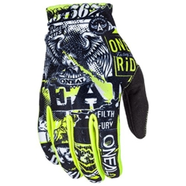 O'Neal Matrix Kinder Handschuhe Attack Neon Gelb Hi-Viz MX MTB DH Motocross Enduro Offroad, 0388R-0, Größe S - 1