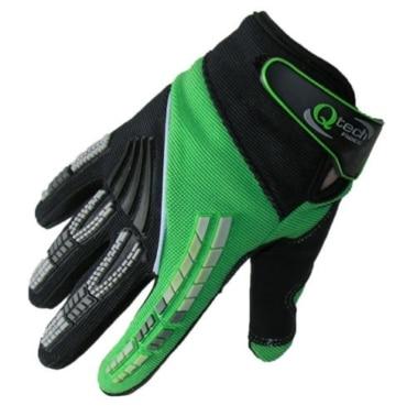 Qtech - Kinder Motocross-Handschuhe - Grün - XXS (ca. 6-9 Jahre - 7