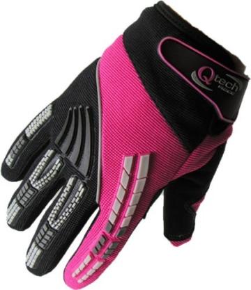 Qtech - Kinder Motocross-Handschuhe - Grün - XXS (ca. 6-9 Jahre - 8