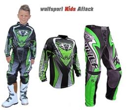 wulfsport-wsx-4-kinder-hosen-kinder-jersey-hemd-mx-atv-quad-motocross-rennkleidung-grün
